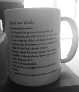 21st birthday present from the roomie. Perfect morning inspiration mug